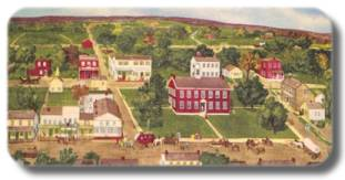 Reproduction of Vandalia, Illinois during the time it was the Illinois State Capital