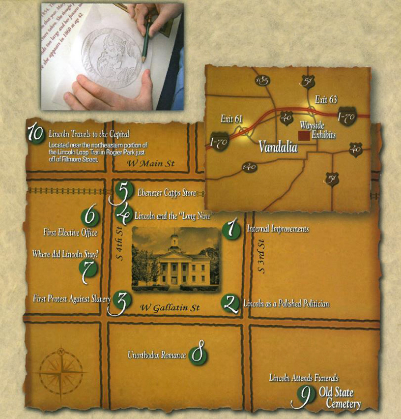 Lincoln Wayside Exhibits Map
