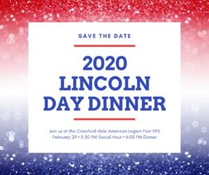 2020 Lincoln Day Dinner @ Crawford-Hale American Legion Post #95