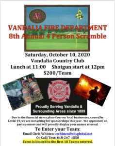 VFD Golf Scramble @ Vandalia Golf & Country Club