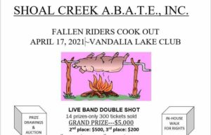 Shoal Creek ABATE Fallen Riders Hog Roast @ Vandalia Lake Club